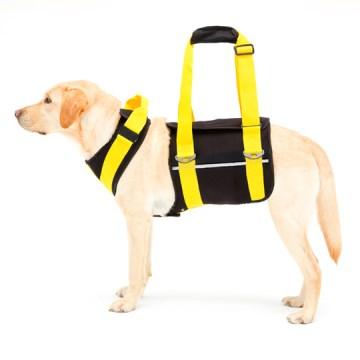 ◇トンボ 歩行補助ハーネスLaLaWalk(ララウォーク) 大型犬用 ネオプレーン黒 SS