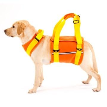 ◇トンボ 歩行補助ハーネスLaLaWalk(ララウォーク) 大型犬用 ネオプレーンオレンジ LL