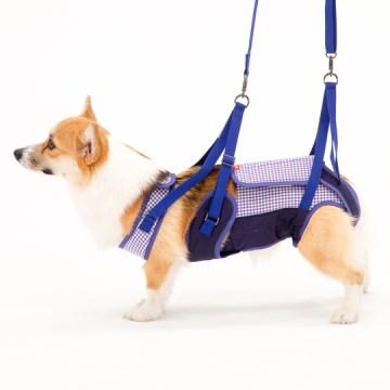 ◇トンボ 歩行補助ハーネスLaLaWalk(ララウォーク) 中型犬・コーギー用 ギンガム CL