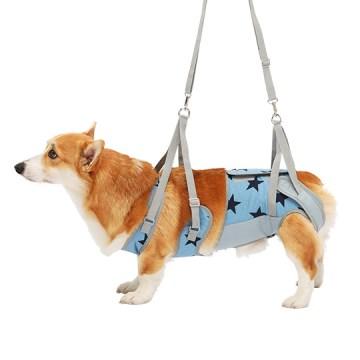 ◇トンボ 歩行補助ハーネスLaLaWalk(ララウォーク) 中型犬・コーギー用 スターデニム CL