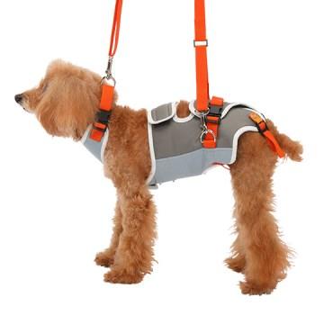 ◇トンボ 歩行補助ハーネスLaLaWalk(ララウォーク) 小型犬・ダックス用 グレーXオレンジ S