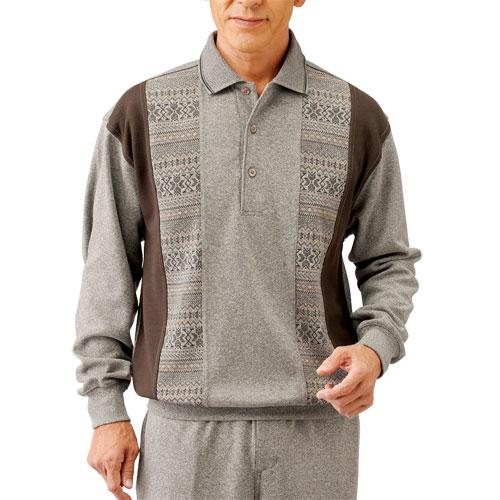(65M完売)送料無料「裾上げ済ジャカード 切り替えホームスーツ(同サイズ2色組) 選べる股下丈 ホームウェア メンズ 紳士 シニア ルームウェア リラックス パジャマ スウェット 部屋着 寝間着」 fri p18018