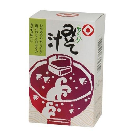 風味の良い凍結乾燥みそを使用した、自然の風味のみそ汁です。 【お買上特典】わかめみそ汁 9g×6袋【日食】