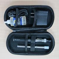 電子たばこ「社長のたばこ」スターター6点セット(アトマイザー、バッテリー、充電器、アロマリキッド30mL)+スマートタバコ1本+専用ハードケース(カラーはピンク)