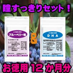 【約12ヶ月分 ビルベリー】*濃い 【ブルーベリー&DHAセット】 サプリメント *【郵パケット便】ブルーベリー(カシス・ルテイン・βカロチンプラス)DHA(EPA配合)