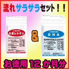【お徳用12か月分】【送料無料】 【DHA&大豆レシチンのセット】 /大豆レシチン エキス サプリメント/レシチン/DHA/ (EPA)/アルツハイマー DHA /脳の栄養/油っぽいものがお好きの方/いつまでも美しくいたい方/ダイエット