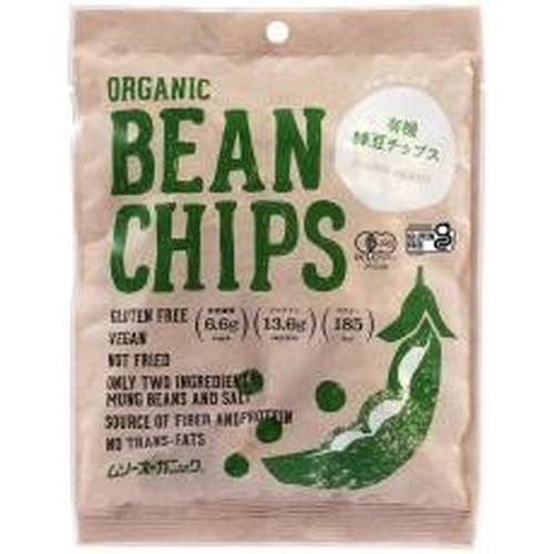 有機栽培緑豆を油を使用せずに、軽い味わいに焼き上げたノンフライヘルシースナックです。 【お買上特典】有機緑豆チップス 50g【むそう】