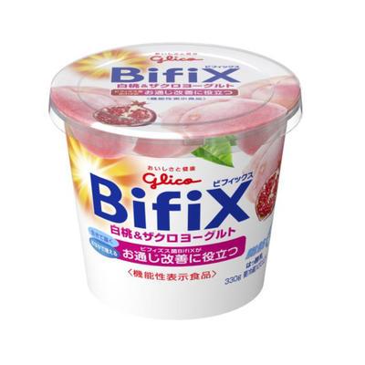 限定特価 ヨーグルト BifiX グリコ 6個 白桃 スーパーセール期間限定 ザクロヨーグルト330g