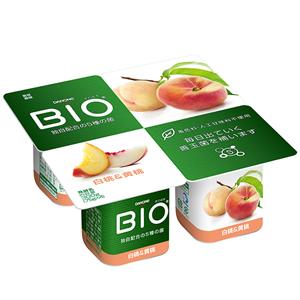 上品な香りの白桃に黄桃を加えることで果肉感がアップしました 送料無料 一部地域を除く ダノンビオ 白桃 黄桃4P 迅速な対応で商品をお届け致します 6パック