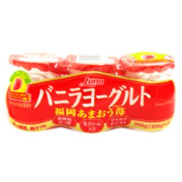 ヨーグルト 人気急上昇 はっ酵乳 strawberry あまおう苺 ルナ 新登場 福岡あまおう苺100g 3連 8パック バニラヨーグルト