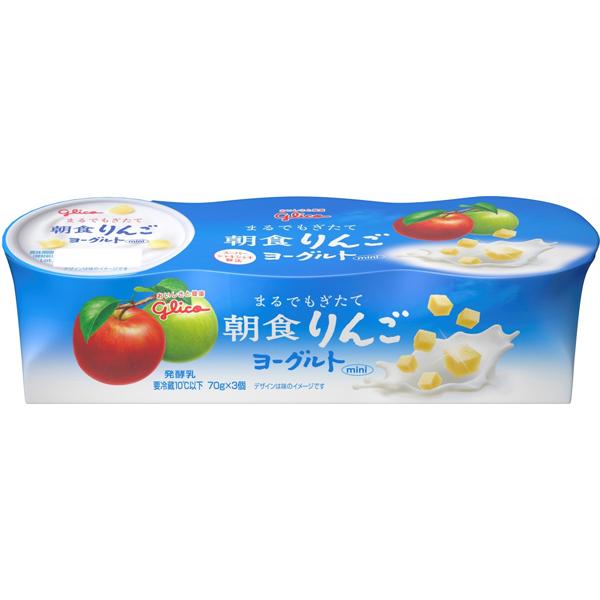 ヨーグルトの乳の味わいで 海外限定 果実のおいしさが引き立つように仕上げました グリコ 朝食りんごヨーグルト3連 6パック その他離島は別途送料がかかります 沖縄 北海道 送料無料 [並行輸入品]