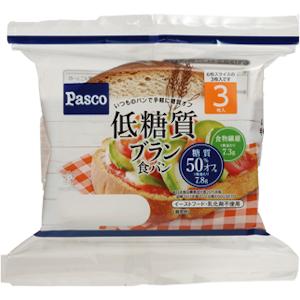 糖質が気になる方のために 激安卸販売新品 糖質を抑えながら普段の食事 パスコ 低糖質ブラン食パン3枚入 お得クーポン発行中