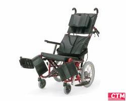 車椅子 車いす リクライニング式車椅子介助式 カワムラサイクル KPF16-40・42ABF アルミ製車いす 【アルミ製車椅子】