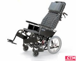 車椅子 車いす リクライニング式車椅子介助式 カワムラサイクル KX16-42N アルミ製車いす 【アルミ製車椅子】
