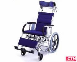 車椅子 車いす リクライニング式車椅子介助式 松永製作所 MH-3R アルミ製車いす 【アルミ製車椅子】