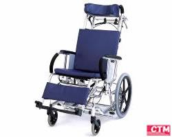 車椅子 車いす リクライニング式車椅子介助式 松永製作所 MH-4R アルミ製車いす 【アルミ製車椅子】