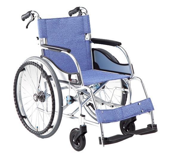 車椅子 車いす 自走式車椅子 松永製作所 MW-SL11B(MW-SL1Bの後継商品です)介助ブレーキ付 アルミ製車いす 【アルミ製車椅子】 【プレゼント 贈り物 ギフト】【介護】
