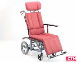 車椅子 車いす リクライニング式車椅子介助式 日進医療器 NHR-12 【アルミ製車椅子】