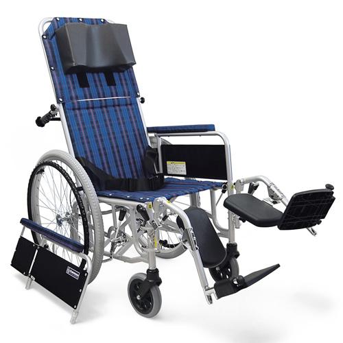 車椅子 車いす リクライニング式車椅子自走式 カワムラサイクル RR52-N(RR50-Nの後継商品です) アルミ製車いす 【アルミ製車椅子】