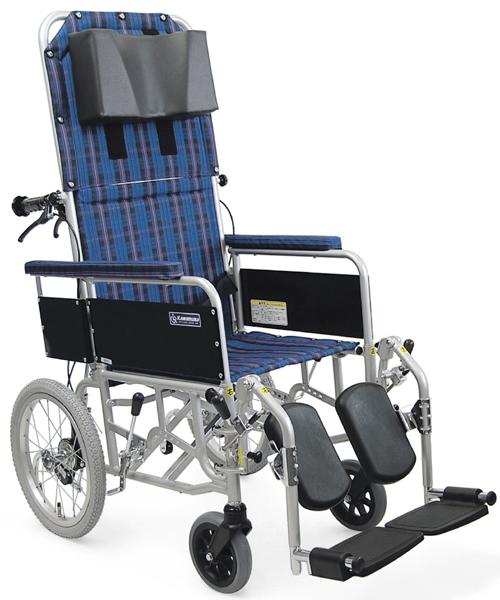車椅子 車いす リクライニング式車椅子介助式 カワムラサイクル RR53-NB(RR51-NBの後継商品です) アルミ製車いす 【アルミ製車椅子】