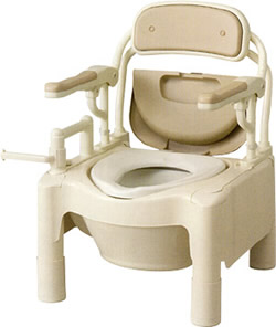 ポータブルトイレ 【送料無料】 FX-CPはねあげ ノーマル アロン化成【介護用・簡易トイレ】【簡易 洋式トイレ】