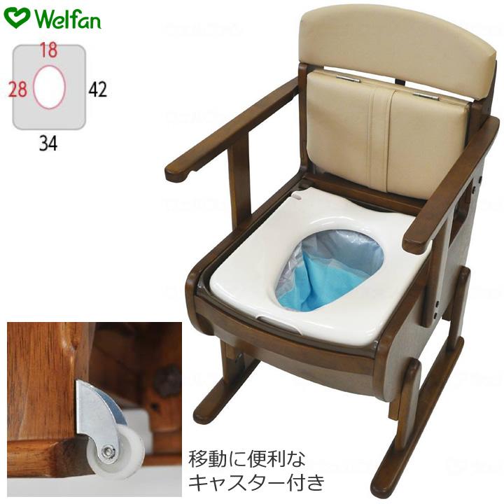 ポータブルトイレ 思いやり優花S 【ウェルファン】 【送料無料】