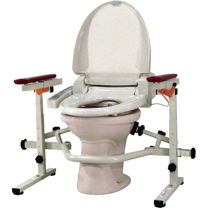 ポータブルトイレ といれって 肘掛スライド式 【ウェルファン】 【S-W】 【送料無料】