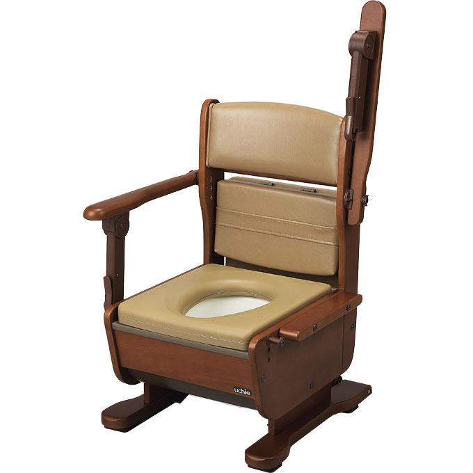 ポータブルトイレ さわやかチェア泉II 肘掛けはね上げタイプ 【ウチヱ】 【8253】 【送料無料】