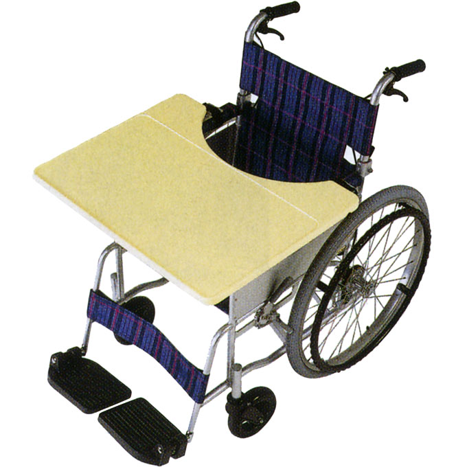 """車椅子(車いす) 車いす用テーブル """"これべんり"""" 軽量タイプ 【日進医療器】 【TY070L】"""
