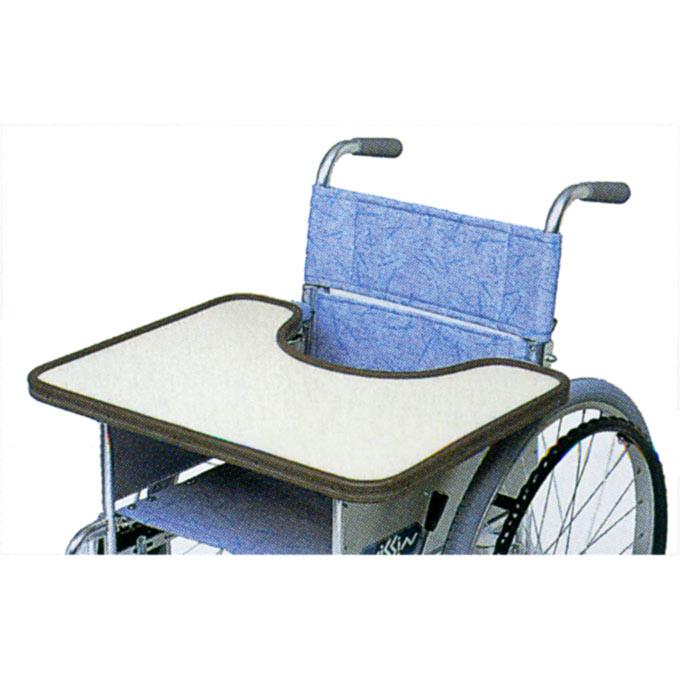 車椅子(車いす) テーブル 全面ゴム枠 【日進医療器】 【KF-4WF KF-4WJ KF-4WM】