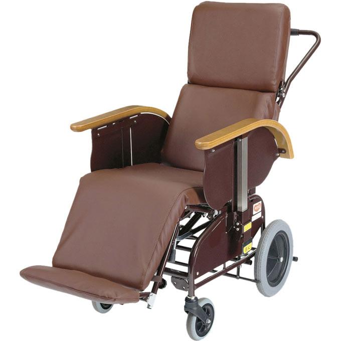 車椅子(車いす) ハビナース フルリクライニングキャリー FC-120 レザーシート(サイドスカート付き) 【ピジョン タヒラ】 【11320】 【送料無料】