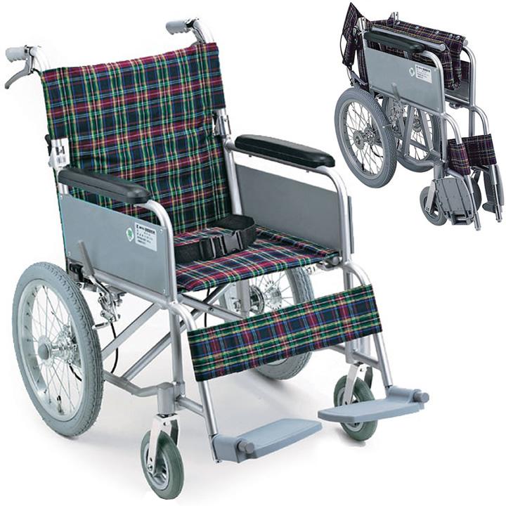車椅子(車いす) ハンドブレーキ付アルミ製介護車(背折れタイプ) 【幸和製作所】 【B-40】 【送料無料】 【プレゼント 贈り物 ギフト】【介護】
