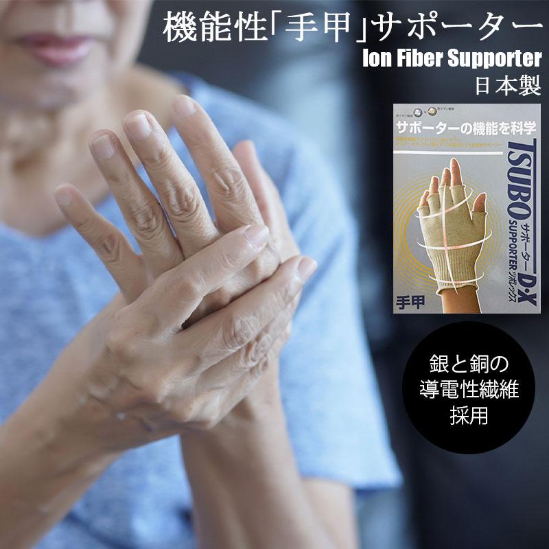 金属イオン繊維 手甲サポーター ソフトサポート 日本製 ポイント消化 導電性 機能性 スーパーセール期間限定 結婚祝い 送料無料
