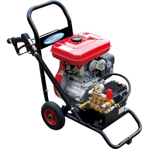 【スーパー工業】 エンジン式高圧洗浄機 コンパクト&カート型 [SEC-1615-2]