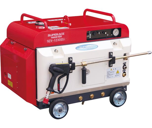 【スーパー工業】 エンジン式高圧洗浄機 防音型 [SEV-1230SSi]