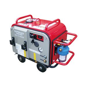 【スーパー工業】 エンジン式高圧洗浄機 防音型 ラインストレーナ付 [SEV-1615SSR]