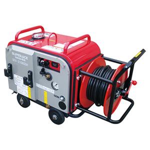 【スーパー工業】 エンジン式高圧洗浄機 防音型 ホースリール付 [SEV-3008SSH]