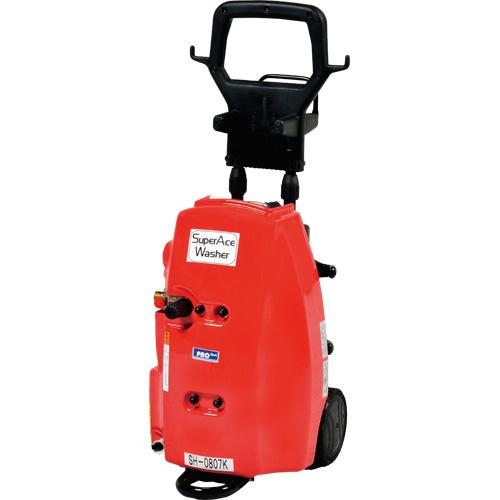 【スーパー工業】 モーター式高圧洗浄機 100V型 自吸式仕様カート式 [SH-0807K-B]