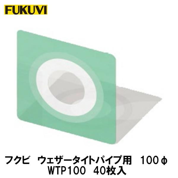 フクビ【ウェザータイトパイプ用Φ100用 WTP100 40入】