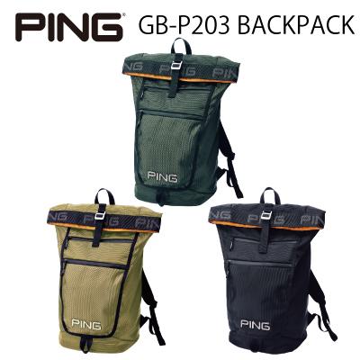 PING 最新号掲載アイテム ピンゴルフ バックパック ピンゴルフGB-P203 BACKPACKバックパック ゴルフバック 大幅値下げランキング ゴルフバッグ リュック 日本正規品