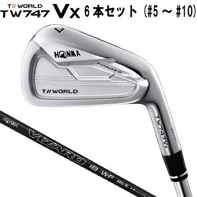 HONMA GOLF ホンマゴルフTour World ツアーワールドTW747-Vx アイアン 6本セット #5、~#10 VIZARD IB-WF シャフト