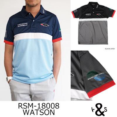 ラフ&スウェル ゴルフ ポロシャツ シャツ ツアースタイルポロ RSM-18008 WATSONラフアンドスウェル rough & swell golf