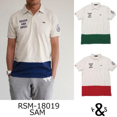 ラフ&スウェル ゴルフ ポロシャツ シャツRSM-18019 SAMラフアンドスウェル rough & swell golf