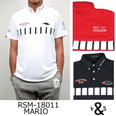 ラフ&スウェル ゴルフ ポロシャツ シャツRSM-18011 MARIOラフアンドスウェル rough & swell golf