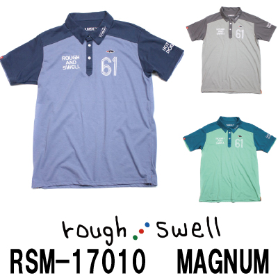【がんばるべ岩手】ラフ&スウェル ゴルフ rough & swell golf RSM-17010 MAGNUM ラフアンドスウェルポロシャツ
