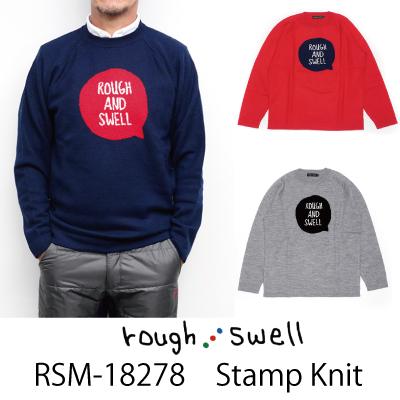 ラフ&スウェル ゴルフ セーターRSM-18278 Stamp Knit ラフアンドスウェル rough & swell golf