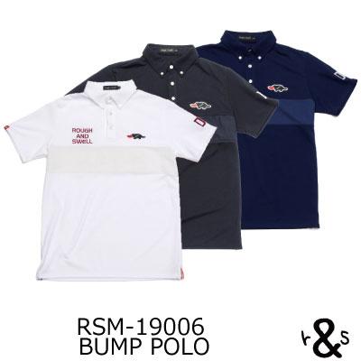 ラフ&スウェル ゴルフ ポロシャツ ツアースタイルポロ シャツ インナータンクトップ付属 RSM-19006 BUMP POLOラフアンドスウェル rough & swell golf