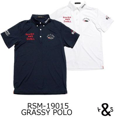 ラフ&スウェル ゴルフ ポロシャツ ツアースタイルポロ シャツ RSM-19015 GRASSY POLO ラフアンドスウェル rough & swell golf
