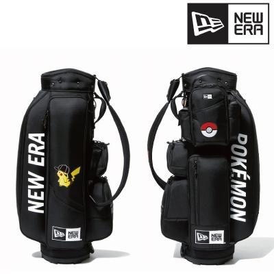 New Era ニューエラGolf ゴルフ キャディーバッグ ポケモン ピカチュウ キャップ ブラック × オフィシャルカラーバッグバック