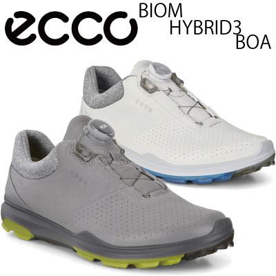 【がんばるべ岩手】【ecco】エコー ゴルフシューズBIOM HYBRID3 BOA メンズ スパイクレスモデル
